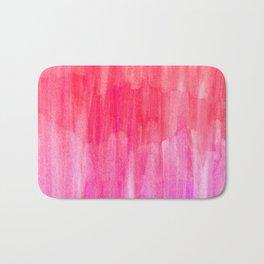 Hot Pink, Melon & Magenta Watercolor Abstract Bath Mat