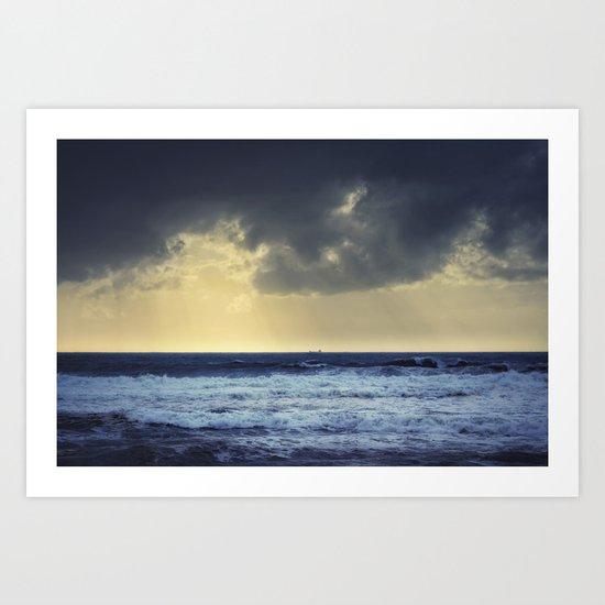 Storm coming. Art Print