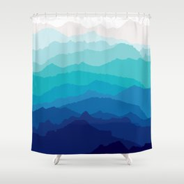 Blue Mist Mountains Shower Curtain