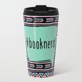 Book Nerd Tribal Print Travel Mug