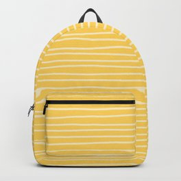 Sunshine Yellow Pinstripes Backpack