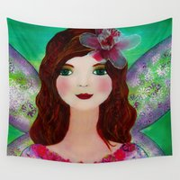 fairy Wall Tapestries featuring Fairy  by Sukilopi