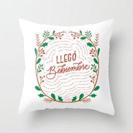 Llegó Bebiembre! - - Dominican Series by gabbadelgado Throw Pillow