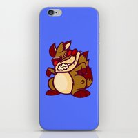 rocket raccoon iPhone & iPod Skins featuring Rabid Raccoon by Artistic Dyslexia