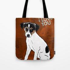 Dog: Rat Terrier Tote Bag