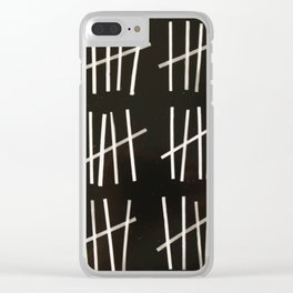 Tally Marks Design Clear iPhone Case