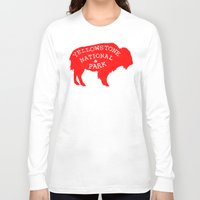 the national Long Sleeve T-shirts featuring Yellowstone National Park  by Terry Fan