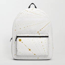 Infinity Space Dots 2 -White and Gold- Backpack