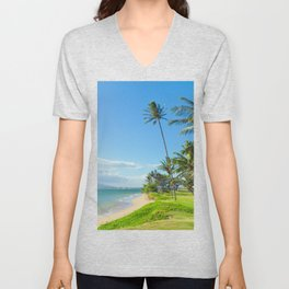 Waipuilani Beach Kihei Maui Hawaii Unisex V-Neck