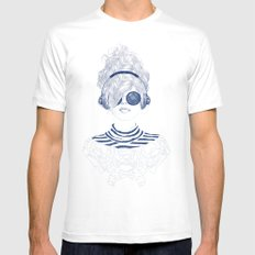 Groove Baby Mens Fitted Tee MEDIUM White
