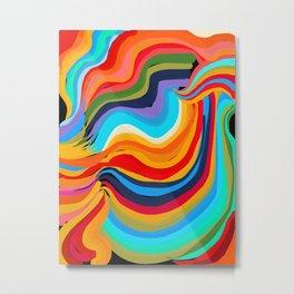 Abstract Rainbow art Metal Print