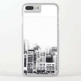 Woodward Avenue Downtown Detroit Black and White Print Clear iPhone Case