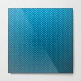 LV Blue Pattern Metal Print