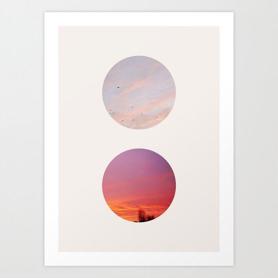 Circles of the AM & PM Art Print