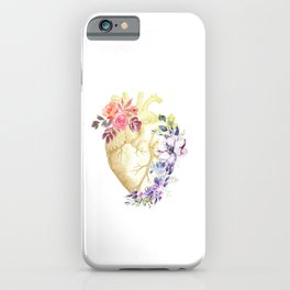 Floral Heart Anatomy  iPhone Case