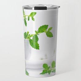 #herbs #Melissa #officinalis #still life for #your #decorativ #home Travel Mug