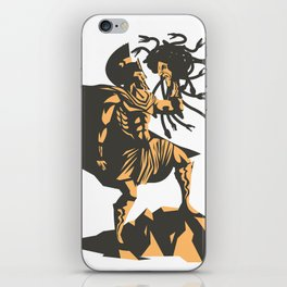 perseus holding the head of the medusa iPhone Skin