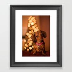Dachshund Christmas Framed Art Print