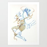 burdge Art Prints featuring The Curse by Burdge