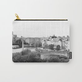 Paris in Black and White, Notre Dame and Les Iles Carry-All Pouch