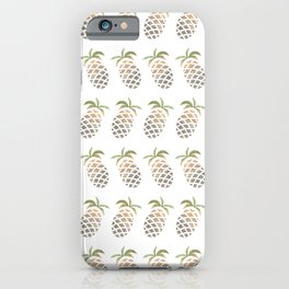 PINEAPLE PATTERN - PINA COLADA PARTY iPhone Case