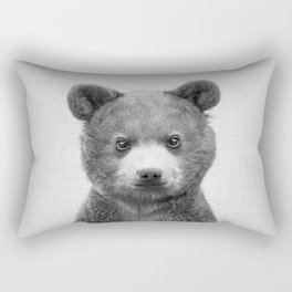 Baby Bear - Black & White Rectangular Pillow