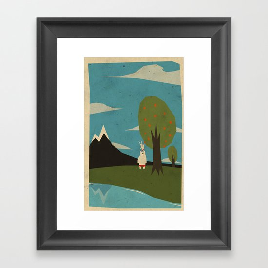 Yeti hearts bunny Framed Art Print