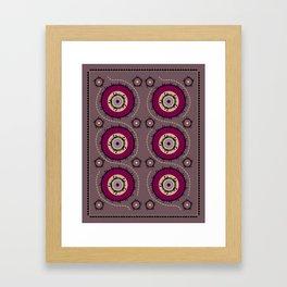 Central Asian Pattern Framed Art Print