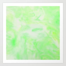 Neon Green Marble Art Print