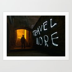 Travel More Art Print