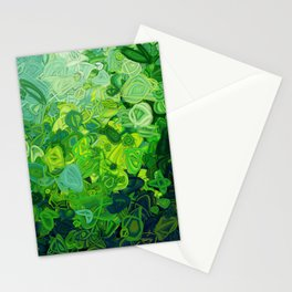 Composition #82 (shades of green) Stationery Cards