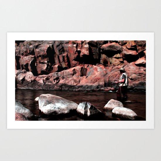 Serenity and solitude Art Print