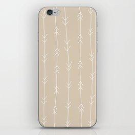 Arrow Pattern: Beige iPhone Skin