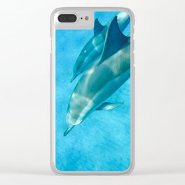 Swimming with Dolphins Clear iPhone Case