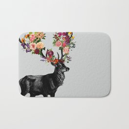 Spring Itself Deer Floral Bath Mat