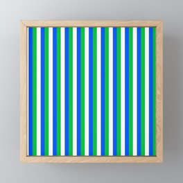 Team Colors 4... blue,green,white Framed Mini Art Print