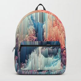 Fairyland - Abstract Glitchy Pixel Art Backpack