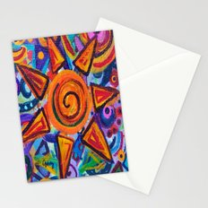 Painted Star Stationery Cards