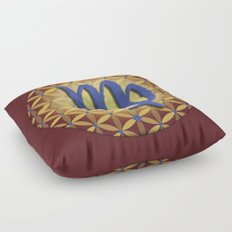 Flower of Life VIRGO Astrology Design Floor Pillow