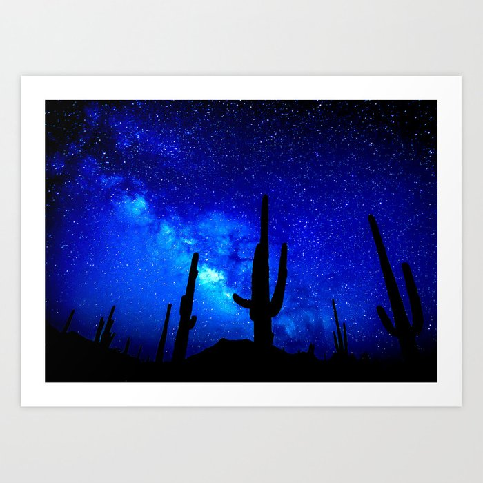 The Milky Way Blue Art Print