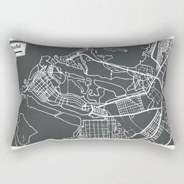 Abu Dhabi UAE Map in Retro Style. Rectangular Pillow