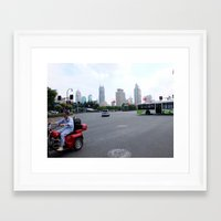 china Framed Art Prints featuring China by Irma Rose Photography