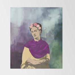 Frida Kahlo Abstract Throw Blanket