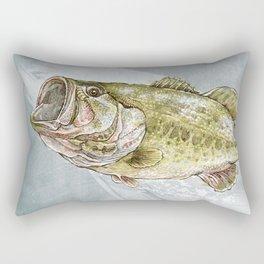 Magnificent Largemouth Bass Rectangular Pillow