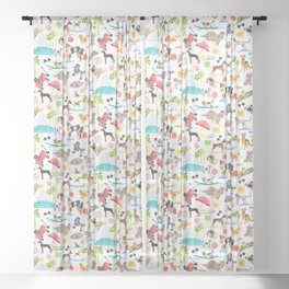 Doggie Days Sheer Curtain