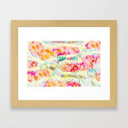 Patterns and smiles Framed Art Print