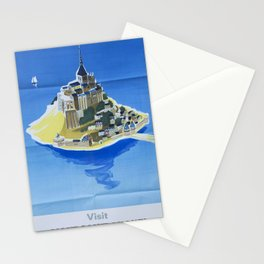 Mont Saint-Michel Vintage Travel Poster Stationery Cards