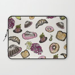 cakes donuts and fruits Laptop Sleeve
