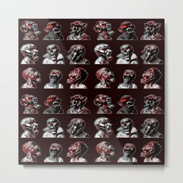 3x3 Head Monster Cover Metal Print