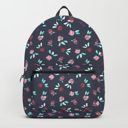 Clover Flowers Pattern on Grey Backpack